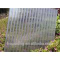 Folha oco de paredes múltiplas de policarbonato anti-derrapante e fácil de proteger UV.