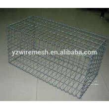 Boîtier en gabion en acier revêtu de PVC / gabion en pierre