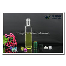 250ml Empty Square Glass Oilve Oil Bottle with Cap