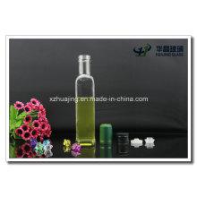 250ml Empty Square Glass Oilve Oil Bottle with Cap