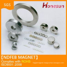 Large Strong Ring shape neodymium magnets product in china