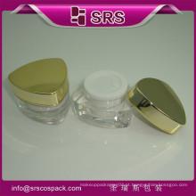 Atacado Jars Embalagem Unique Striangle Forma Cosméticos Plásticos Creme Containers Vazio E 10g 15g 30g 50g Acrílico Gel Jar