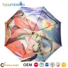 Atacado novo logotipo impressão Grande viagem Guarda-chuvas
