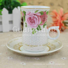 2016 Quality Relief New Bone China Sake Cups al por mayor