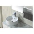 Muebles de baño de madera maciza estilo New America con doble fregadero