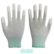 13G Polyester/Nylon PU Finger Tip Coating Glove