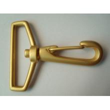 Clavija de langosta de clase A Gatillo giratorio Gancho de metal dorado