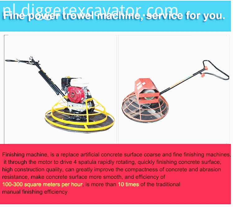 Hand push concrete electric power trowel machine