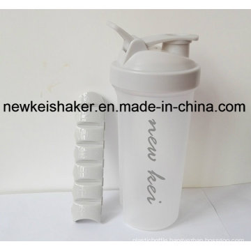New Patented Protein Shaker Bottle with Pill Box