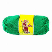 Cotton yarn for knitting, various colors are available