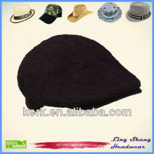 LSC49 Ningbo Lingshang de encargo de la pato-Lengua invierno de la manera hizo punto el sombrero de la gorrita tejida de la señora