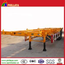 Transport tous les types remorque de conteneur de squelette de Cimc d'essieu de BPW