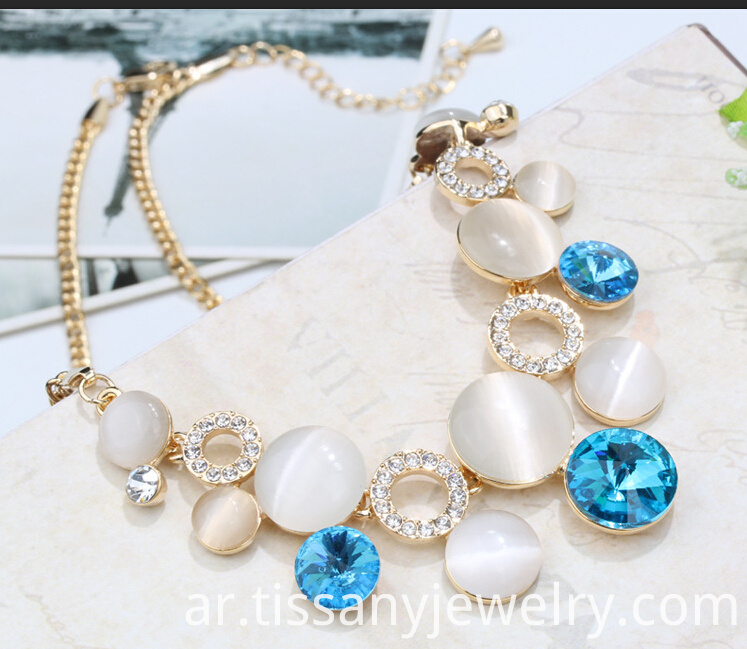 auqa opal necklace