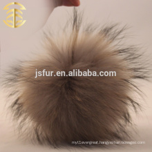 Wholesale Beanie Pom Poms Raccoon Fur Ball Light Grey Fur Poms Accessories