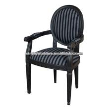 Schwarze Farbe Soild Holz louis Stuhl XY1016