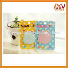 Colorful printing sticky notes with different design,different shaped sticky notes