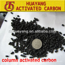 valor de yodo 1000mg / g columna planta de carbón activado para el tratamiento del agua