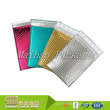 Durable Shockproof Custom Color Printed Aluminized Foil Gold Bubble Lined Envelope Mailing Bags