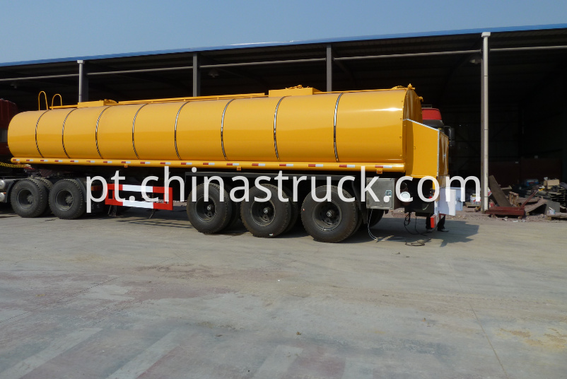 3 axle air suspension bitumen tank semi-trailer