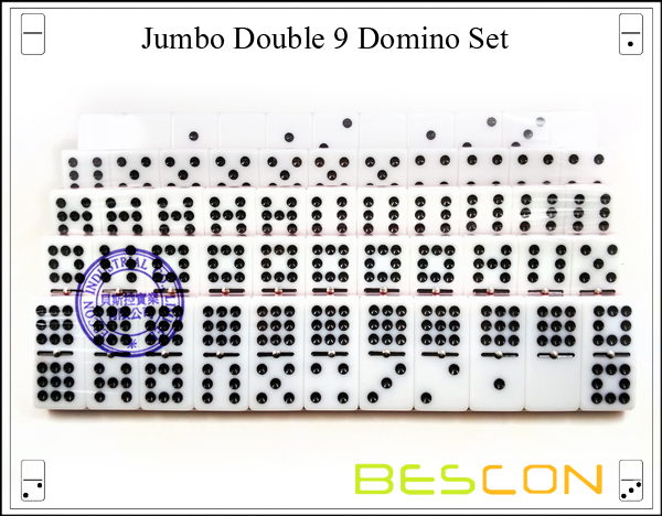 Jumbo Double 9 Domino Set-7