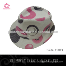 cotton party hat pink fedora hats flower pattern for lady summer hats