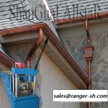 Lluvia de techos de metal perfil canales de la máquina formadora de rollos de canalones