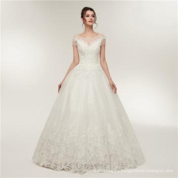 2018 elegante appliqued china de lujo por encargo formal vestido de novia de suzhou al por mayor