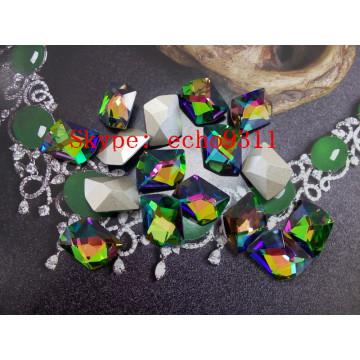 11*14mm Vm Octagon Crystal Stones Fancy Rhienstones (DZ-3016)