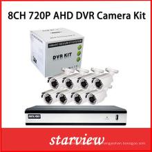 8CH 720 Ahd DVR con las cámaras de la bala del CCTV 8PCS