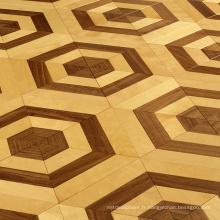 Érable avec plancher de bois parquet en noyer design
