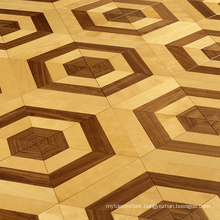 Maple with walnut design wood parquet dance floor
