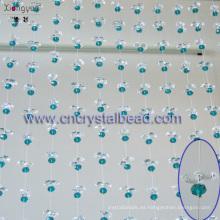 Nueva cortina de ventana con cuentas de cristal para boda y casas