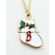 Jóias de natal / natal colar / pingentes de natal (xjw13354)
