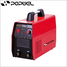 Alta calidad 2015 Máquina de soldadura caliente del arco del inversor de la CC de la venta Igbt 200 Energía de entrada clasificada 7 (Kva) material de la soldadura