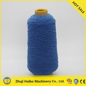 2015 filé couverte spandex professionnel, fournisseur de polyester filé pour tricoter les chaussettes