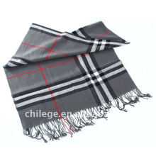 men thin checked wool scarfs fashion style