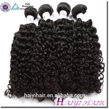 Qingdao-Haar-Fabrik-kambodschanisches Haar-Jungfrau-lockiges natürliches schwarzes Menschenhaar Dropship