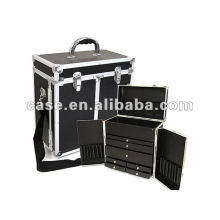 aluminum cosmetic case with drawer