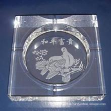 Cinzeiro de cristal de alta qualidade para decoração de casa e escritório (JD-CA-005)