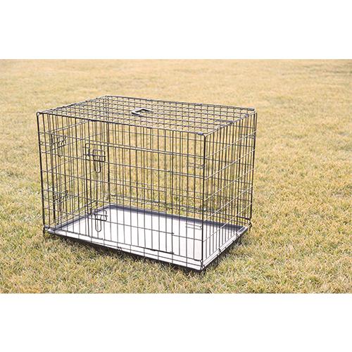 Black Folding Dog Cage