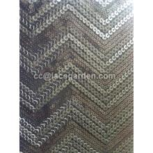 Leather Wave Design Sequin Fabric