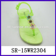2015 latest fashion women flat sandals china wholesale sandals ladies slippers shoes