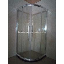 Verchromte glänzende Duschraum-Gehäuse mit großem Aluminiumrahmen (E-01 großes Aluminium)