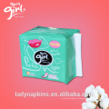 100% Real Nature Cotton Brand Wholesale Panty Liners para mujeres