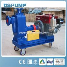 Pompe d'égout de remorque diesel auto-amorçante pour l'eau en Chine
