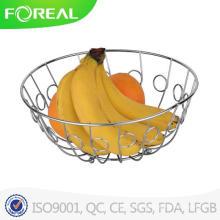 Comércio por grosso de cesta de frutas de metal