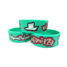Customize Logo Silicone Deboss Wrist Bands For Decorations