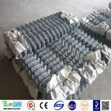 Pagar Link Chain Galvanized Security Tinggi