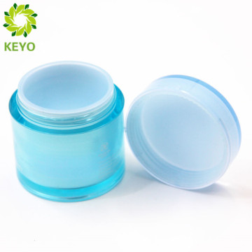 Plastic material and screen printing surface handling double wall waterproof bottle ball plastic jar 70G