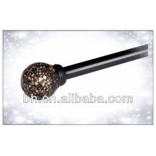 Window Rod Set Silver/Matte Amber/Dark Chocolate- Mosaic